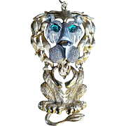 "4 1/4"" Full Body Lancer Lion Pendant"