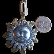 Mixed Metal Reversible Sun Pendant