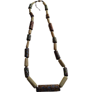 Millefiori Chevron Cane Trade Bead Necklace