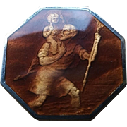 St Christopher Enameled Medallion on keychain