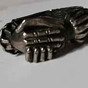 Diane Love Trifari 1972 Clasped Hands Ring