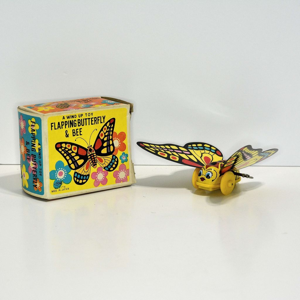 Yone Flapping ButterflyWind-up—mint in box