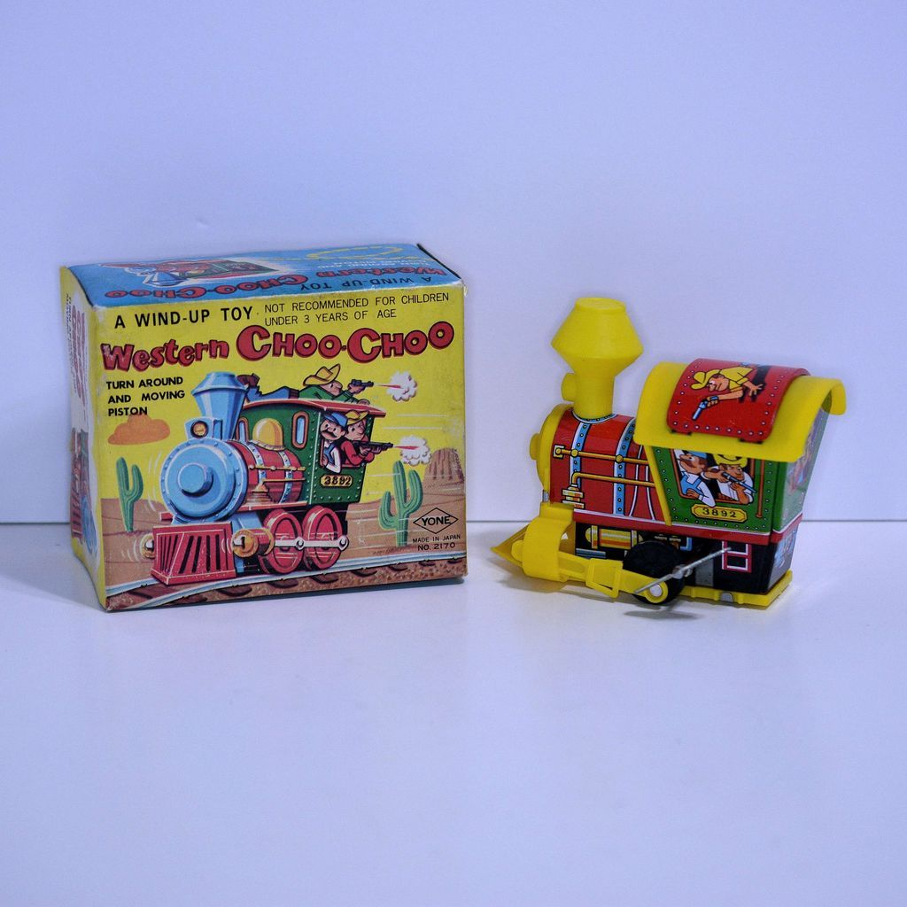 Yone Western Choo-Choo Wind-up—mint in box