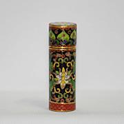 Cloisonne (cloisonné) small trinket or pin box – lotus pattern