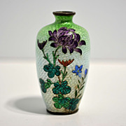 Japanese cloisonné ginbari –jippo vase