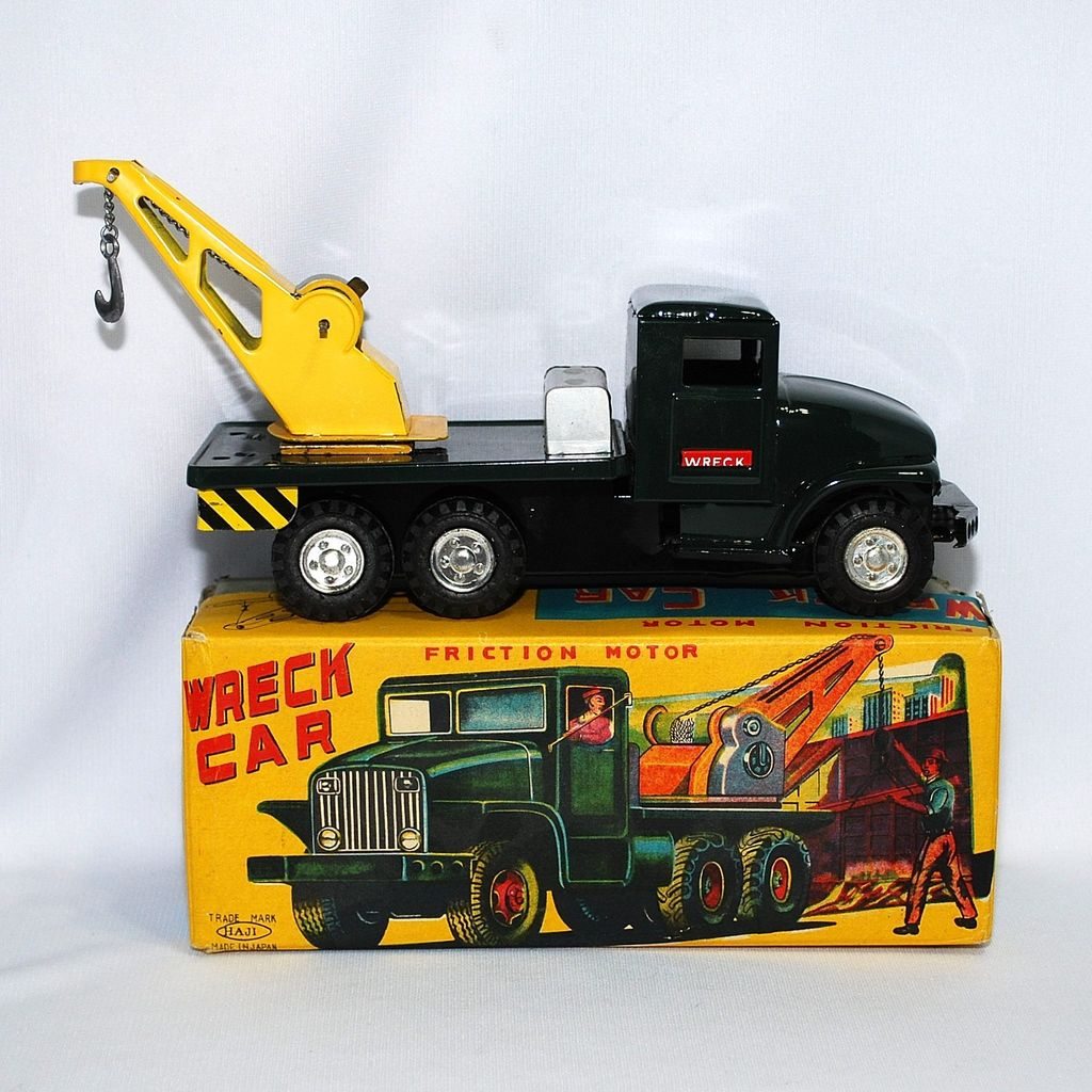 Haji Wreck Car with Friction Motor—near mint in box