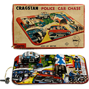 TPS Police Car Chase Tin Windup with Box