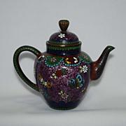 Japanese cloisonne (cloisonné) teapot