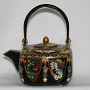 Japanese Inaba cloisonne (cloisonné) teapot