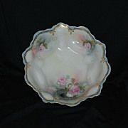 RS Prussia bowl with pink roses