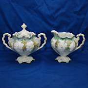 R.S. Prussia sugar and creamer– Royal Vienna mark