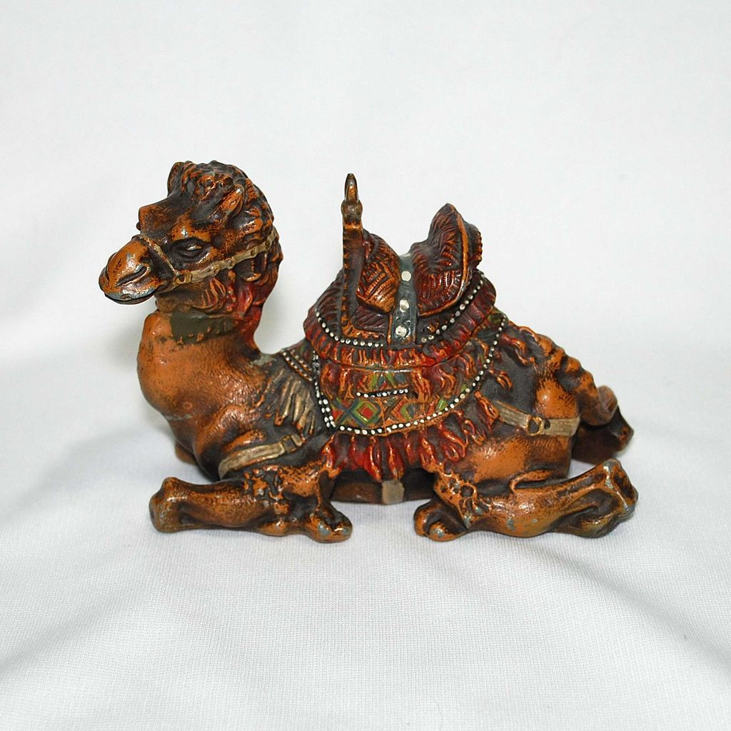 Judd Cold Painted Camel Inkstand