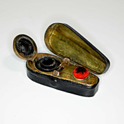 Novelty traveling inkwell – violin case