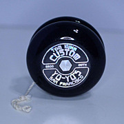 Tom Kuhn 3-IN-1 No Jive Yo-Yo Mint in Box-- Deep Purple