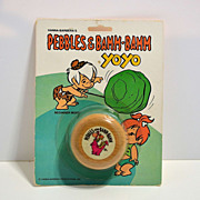 Wooden Pebbles and Bamm-Bamm YoYo  yo-yo from The Flintstones-mint on card