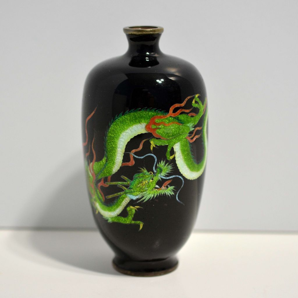 Japanese cloisonn vase with gin bari dragon artful toys and japanese cloisonn vase with gin bari dragon artful toys and antiques ruby lane reviewsmspy