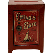Chein Tin Child's Safe Bank - Medium Size