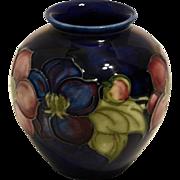 Vintage Moorcroft Vase – Clematis Pattern