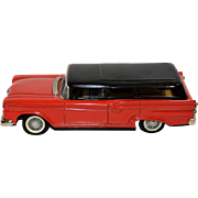 Tin 1959 Ford Station Wagon Friction Toy from Japan