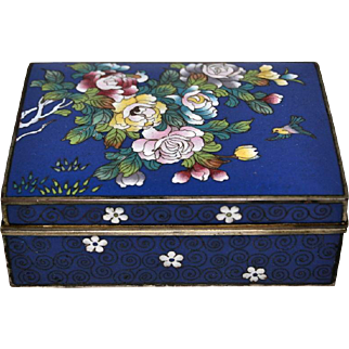 Early Twentieth Century Japanese Cloisonné Box