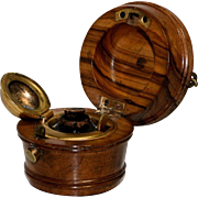 Turned Wood Traveling Inkwell – Milk Bucket