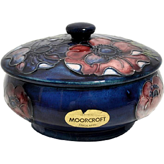 Covered Moorcroft Box – Anemone Pattern