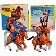 MTU Cowboy and Indian Tin Windups MIB