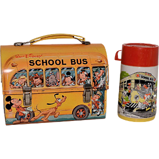 Walt Disney School Bus Lunch Box by Aladdin