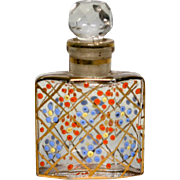 Enameled Czechoslovakia Perfume Bottle