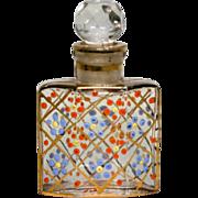 Enameled Czechoslovakia Perfume Bottle