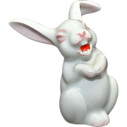 Small Rosenthal Laughing Rabbit – white with pink accents