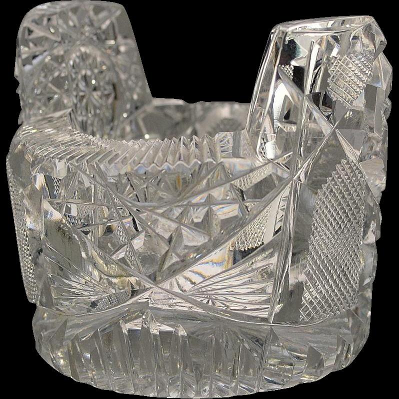 American Brilliant Cut Glass Open Salt Dip