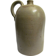 Salt Glaze Pottery Jug 3 Gallon With Stamp Signature