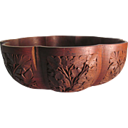 Kashmir Walnut Decorative Wood Bowl