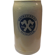 Salt Glaze Stone-Wear German  Beer Mug Marked