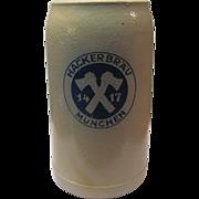 Salt Glaze Stone-Wear German  Beer Mug Marked