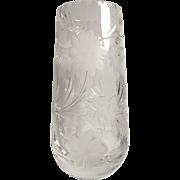 Thomas Webb Clear Cut Crystal Vase England