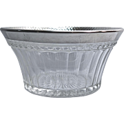 Imperial Glass Small Candy Bowl With Sterling Rim