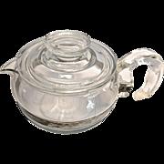 Glass Pyrex 6 Cup Teapot Kettle