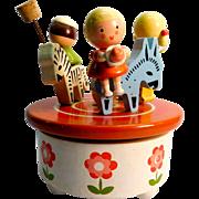 Reuge Music Box Merry-go-round Wood Children Circus Animals
