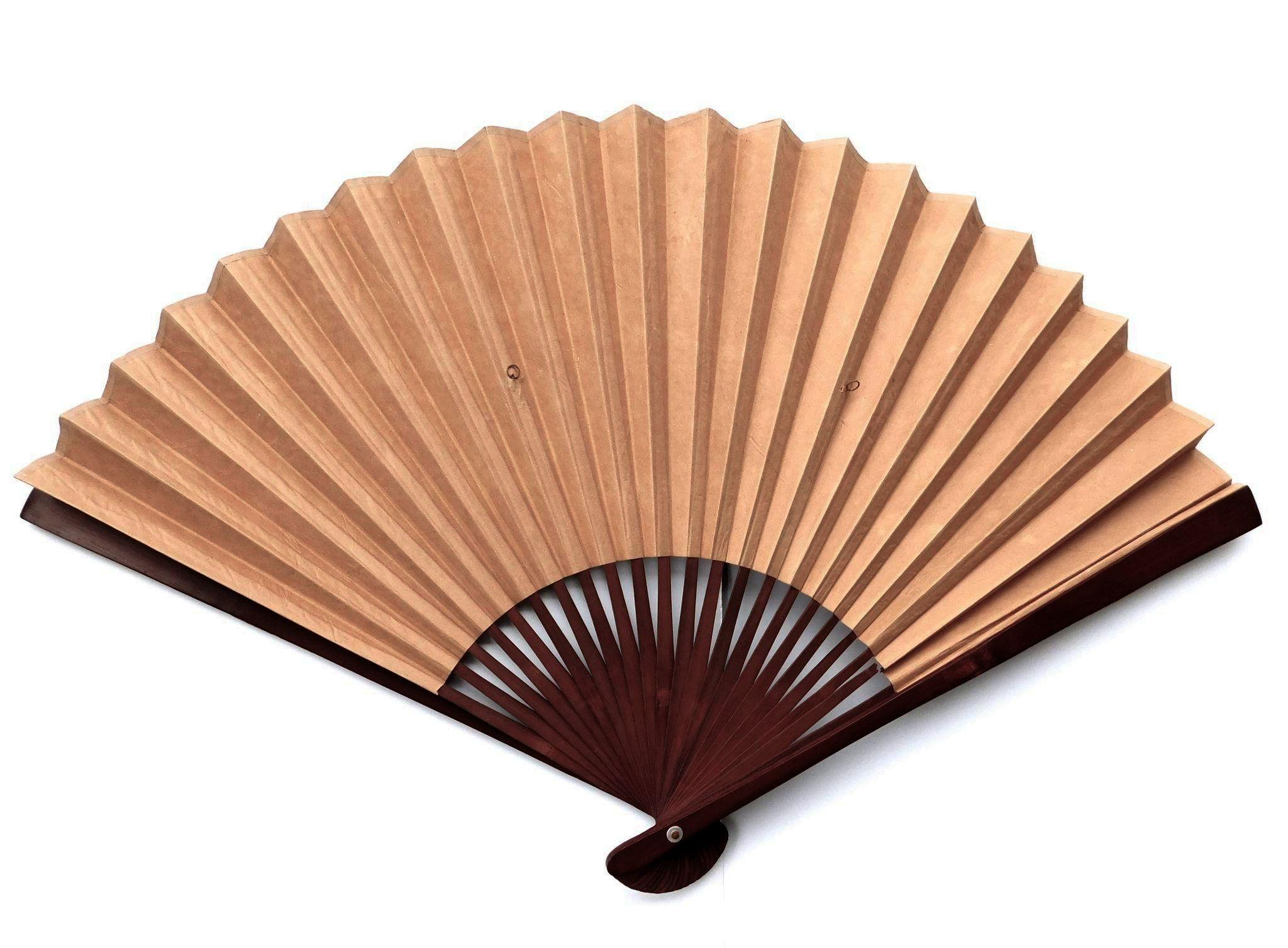 Decorative Wall Fans oriental paper and bamboo wall fan from artgate on ruby lane
