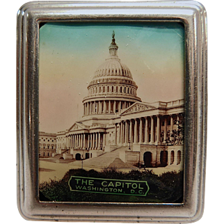 Powder Compact with Mirror and Cover of the Capitol Building in Washington, D.C.