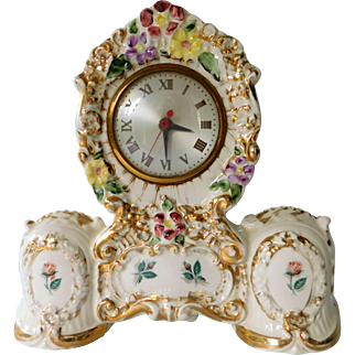 Porcelain Clock by Oxford Metal Spinning Co, circa 1940