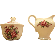 Bone China Creamer and Sugar Bowl by Royal Stuart of Spencer Stevenson, England