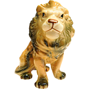Porcelain Lion Figurine.