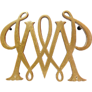 William and Mary Brass Trivet by Virginia Metal Crafters