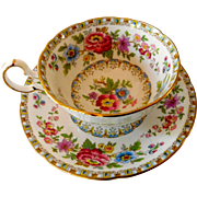 Royal Grafton China Tea Cup and Saucer Malvern Pattern