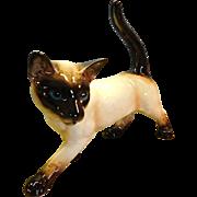 "Goebel Porcelain Siamese Standing 13"" Cat"