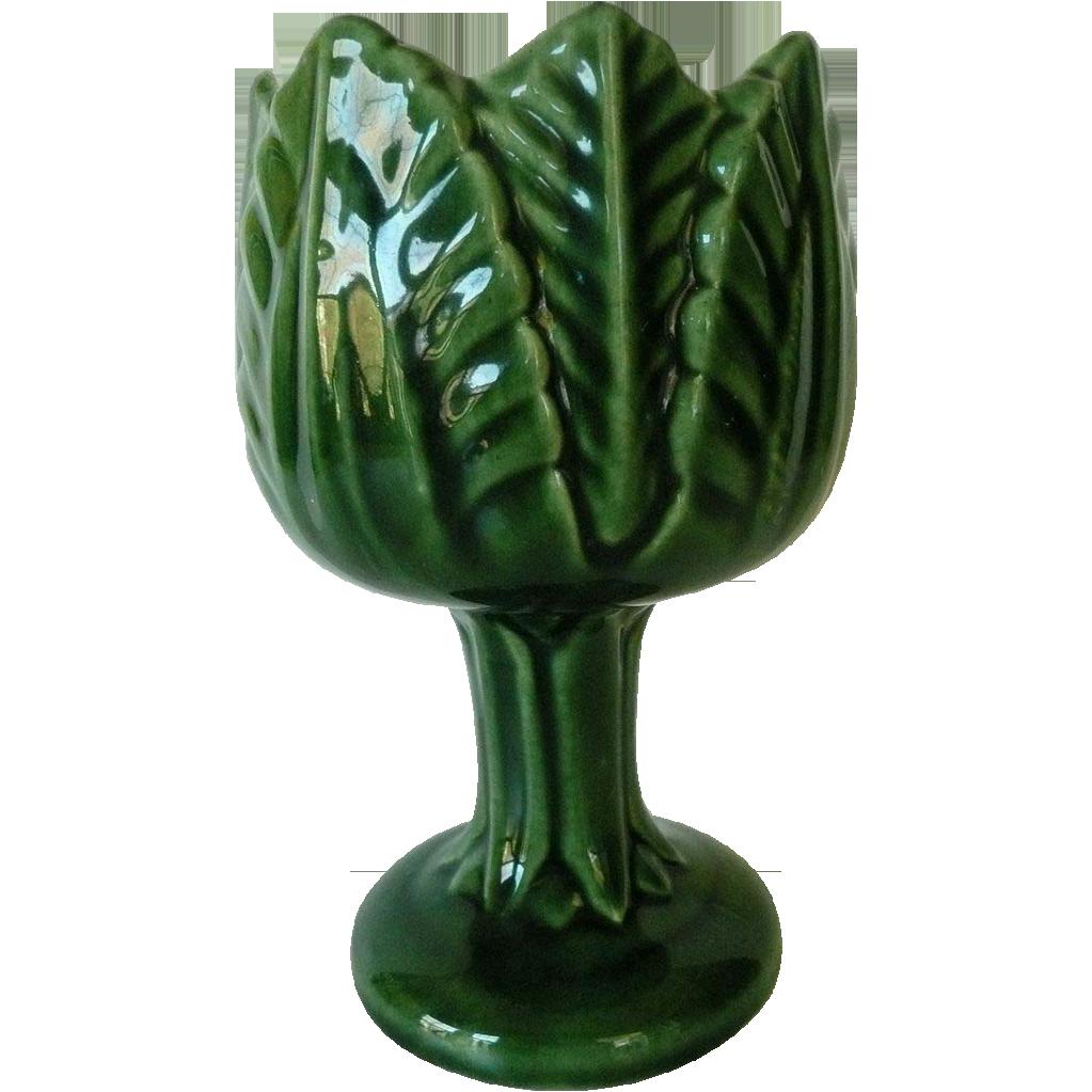 Vintage green majolica pedestal cabbage leaf vase marked artgate vintage green majolica pedestal cabbage leaf vase marked artgate treasures ruby lane reviewsmspy