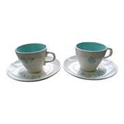 Taylor Smith Taylor Boutonniere Coffee Tea Cups and Saucers